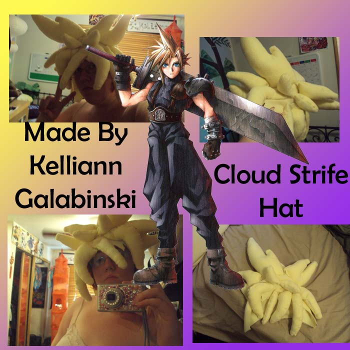 Cloud Strife Hat by CupcakeCrafty