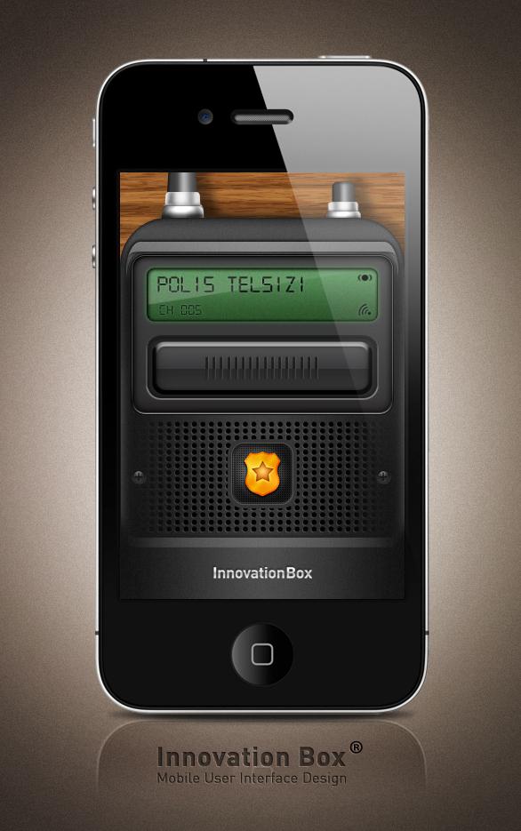 POLIS TELSIZI IPHONE INTERFACE