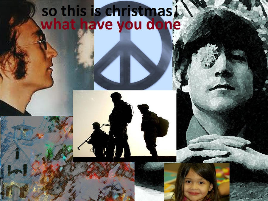 john lennon. christmas theme by analovecatdog on DeviantArt