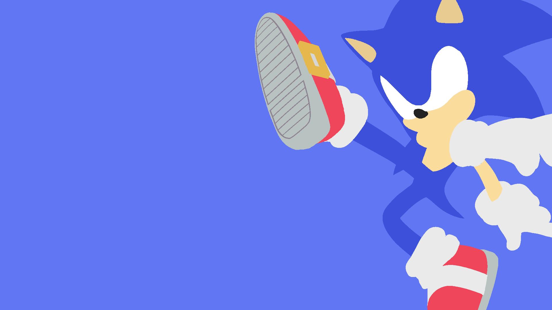Sonic Minimalist Wallpaper 1080p By Sp5rky On Deviantart
