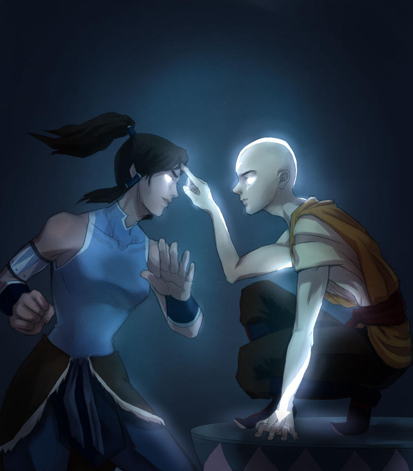 korra and aang by drchopper7 on DeviantArt Aang Avatar State Korra
