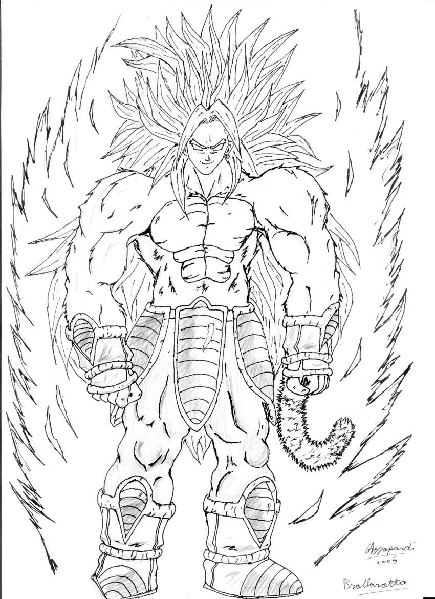 broly coloring pages - photo#10