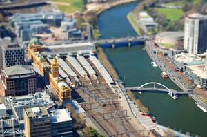 Melbourne City View Tilt Shift by daniellepowell82