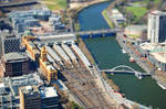 Melbourne City View Tilt Shift