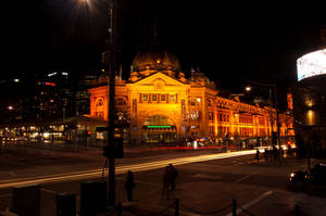 Flinders Street Station Night by daniellepowell82
