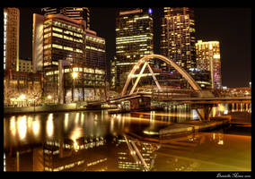 Melbourne Yarra Night HDR by daniellepowell82