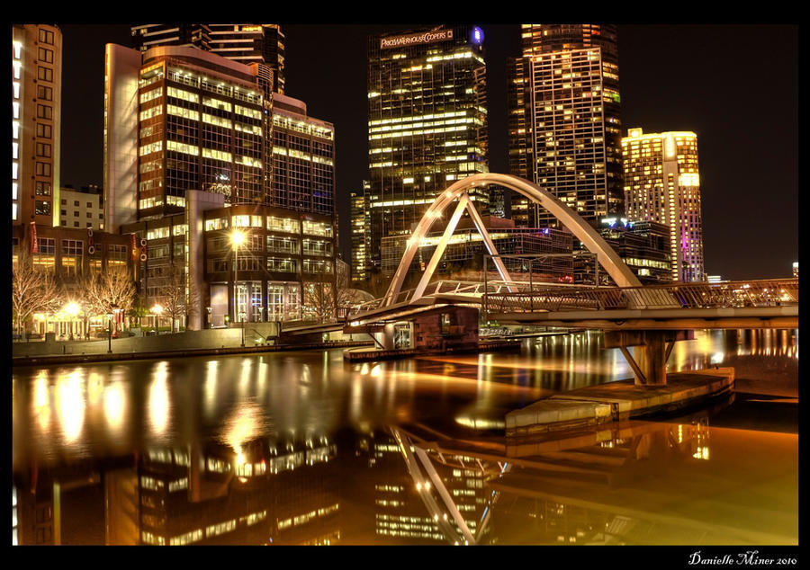 Melbourne Yarra Night HDR