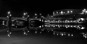 Princes Bridge BW Night