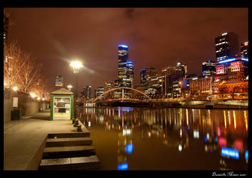 Night: Melbourne City by daniellepowell82