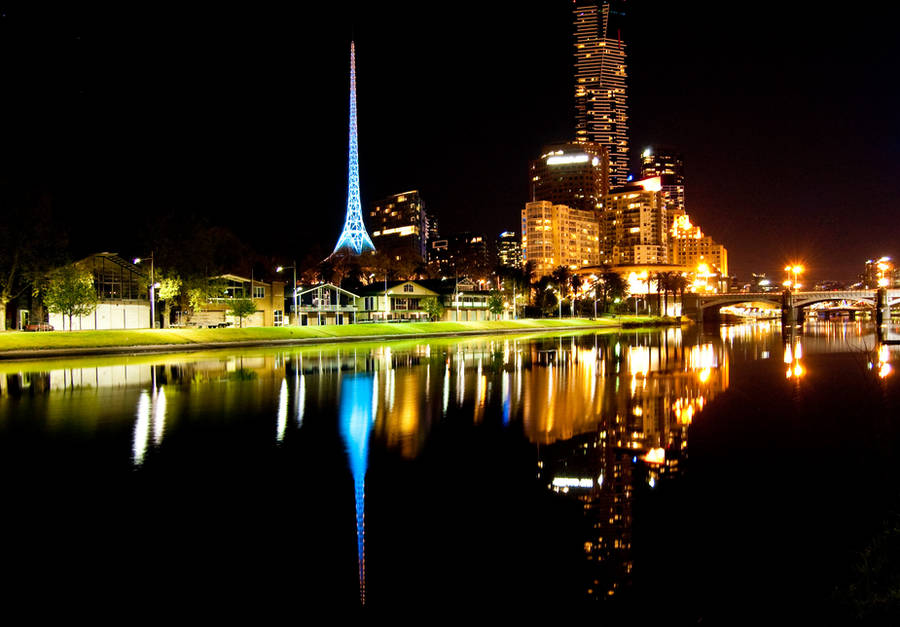 Night: Across the Yarra by daniellepowell82
