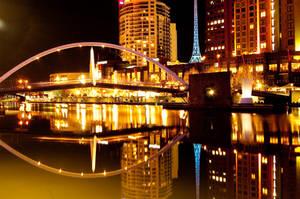 Night:Bridge over the Yarra by daniellepowell82