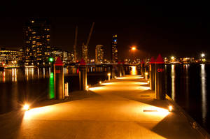 Night: Docklands Pier by daniellepowell82