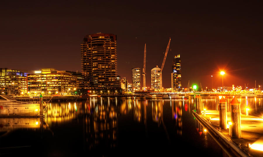 Night: Docklands Marina HDR by DanielleMiner