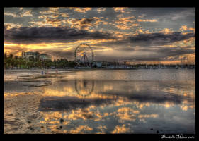 Eastern Beach Sunset HDR by daniellepowell82