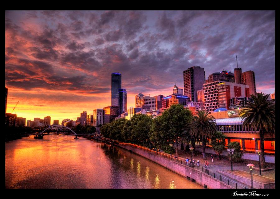 Melbourne Sunset Hdr By Daniellepowell82 On Deviantart