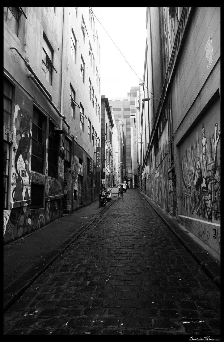 Hosier Lane BW by DanielleMiner