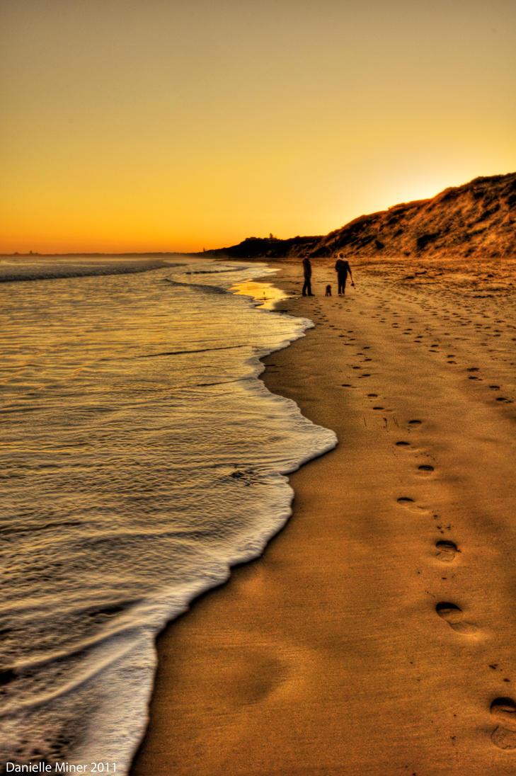 A Beach Walk by DanielleMiner