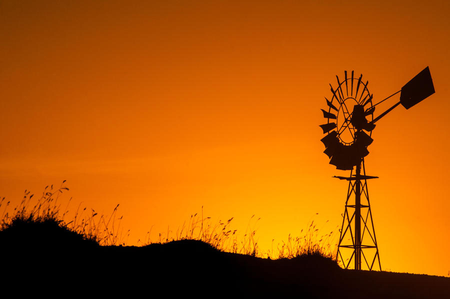 Australian Windmill Sunset by DanielleMiner