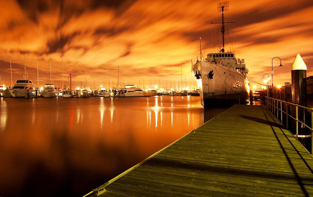 Williamstown at night by DanielleMiner