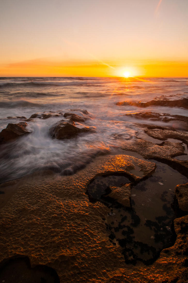 13th Beach at Sunset by DanielleMiner