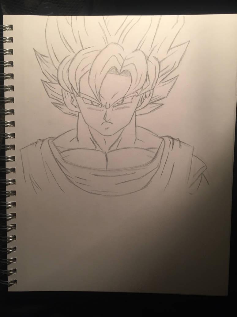 Goku pencil drawing by herculesaiyan