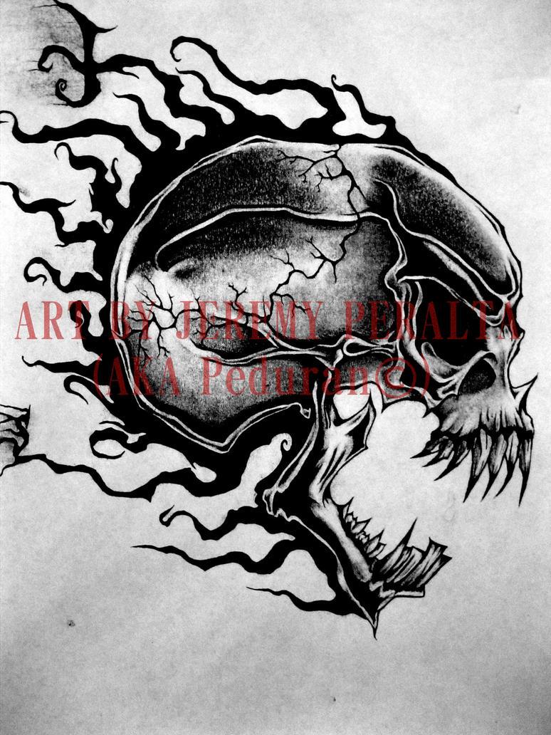 skull tattoo design by peduran on deviantart. Black Bedroom Furniture Sets. Home Design Ideas