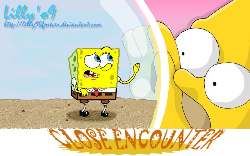 SpongeBobvsHomer by LillayFran