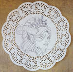 Kevri Inked Doily Art by AngelaCross