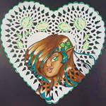 Peppermint Doily Art by AngelaCross