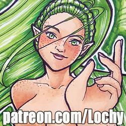 Mermaid Eileen in Green by AngelaCross