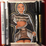 Tabria Majors in February Copic Color by AngelaCross