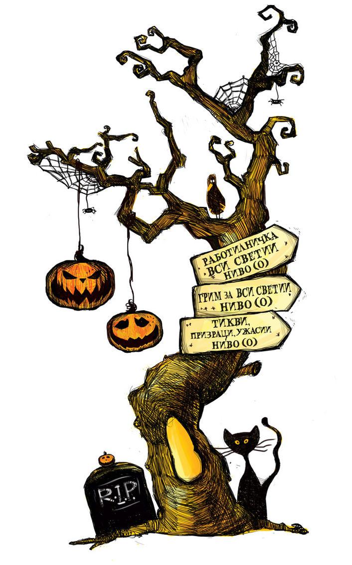 Halloween tree by Tatiks on DeviantArt