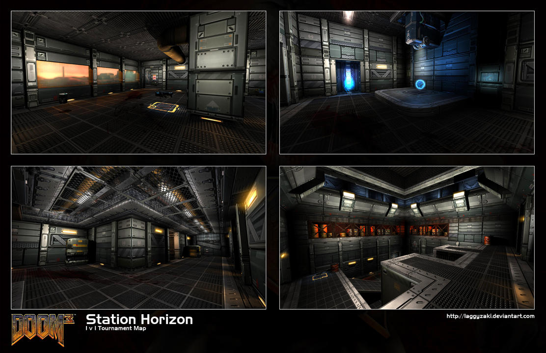 Doom 3 MP Map: Station Horizon by Laggyzaki on DeviantArt