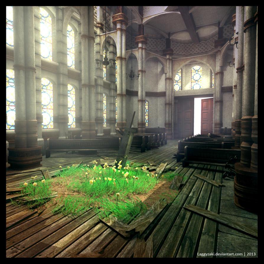 Final Fantasy VII Sector 5 Church by Laggyzaki