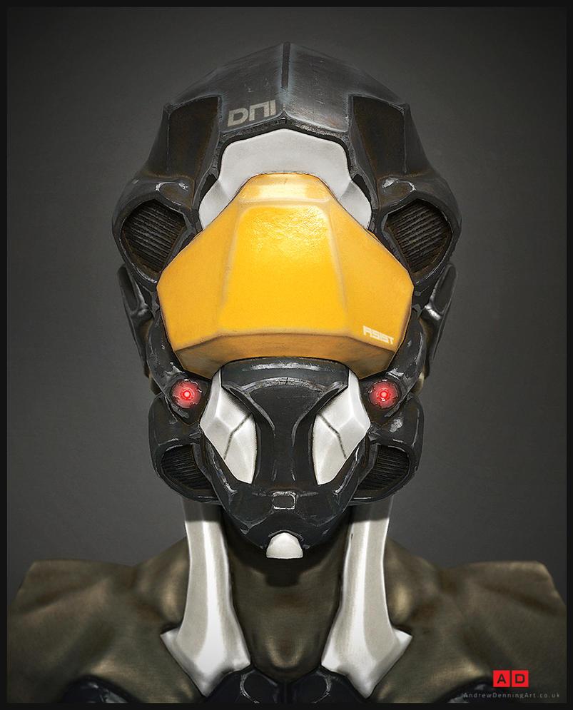 Cyborg Head by Laggyzaki