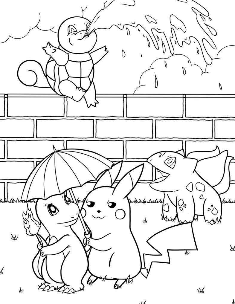 charmander bulbasaur squirtle coloring pages - photo#12