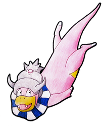Shiny Slowking by Little-Papership