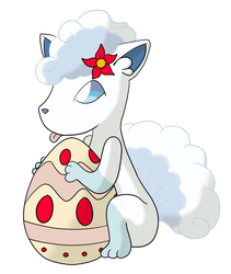 Alolan Vulpix by Little-Papership
