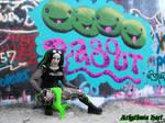 HOPE Grafitti Wall - Cybergoth Girl