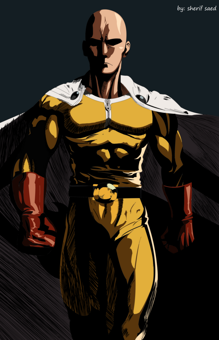 one punch man saitama by me by sherif4anime10 on DeviantArt