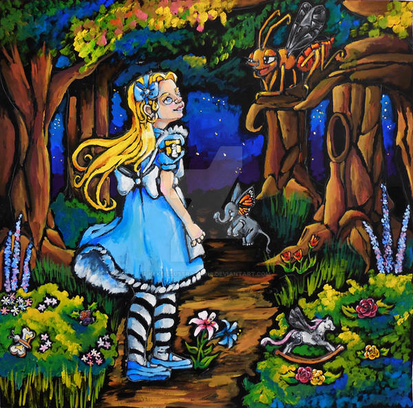 Alice Through the Looking Glass by KekeIllustrations
