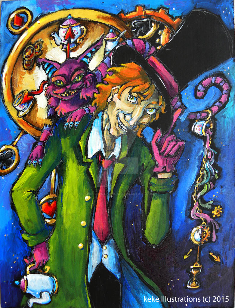Mad Hatter and Cheshire Cat by KekeIllustrations