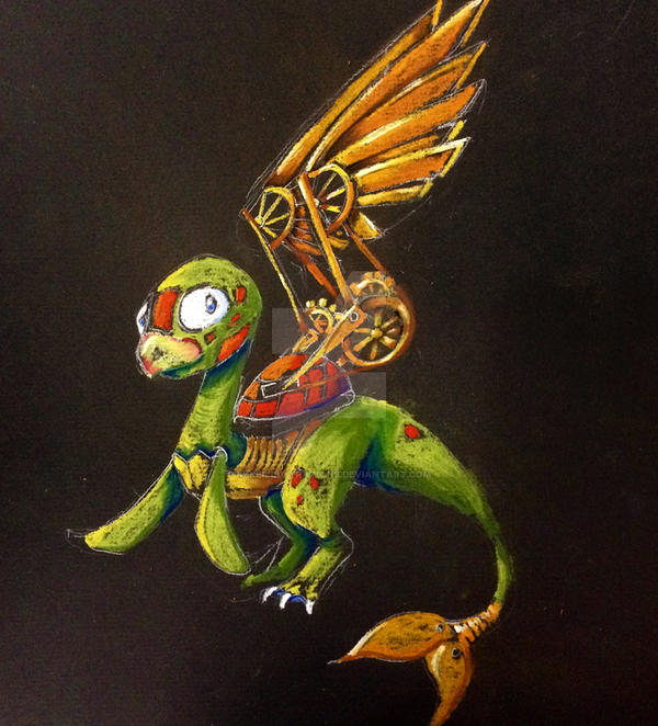 Mechanical Winged Turtle by KekeIllustrations