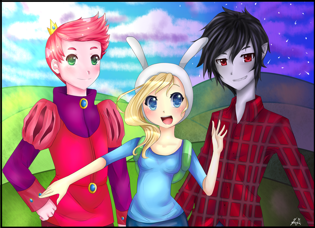 Fionna, Prince Gumball And Marshall Lee! By HappySmileGear
