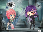 Commission: Lightning and Caius 1