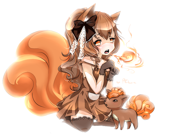 Gijinka Vulpix Oc: vulpix by piuu-chan