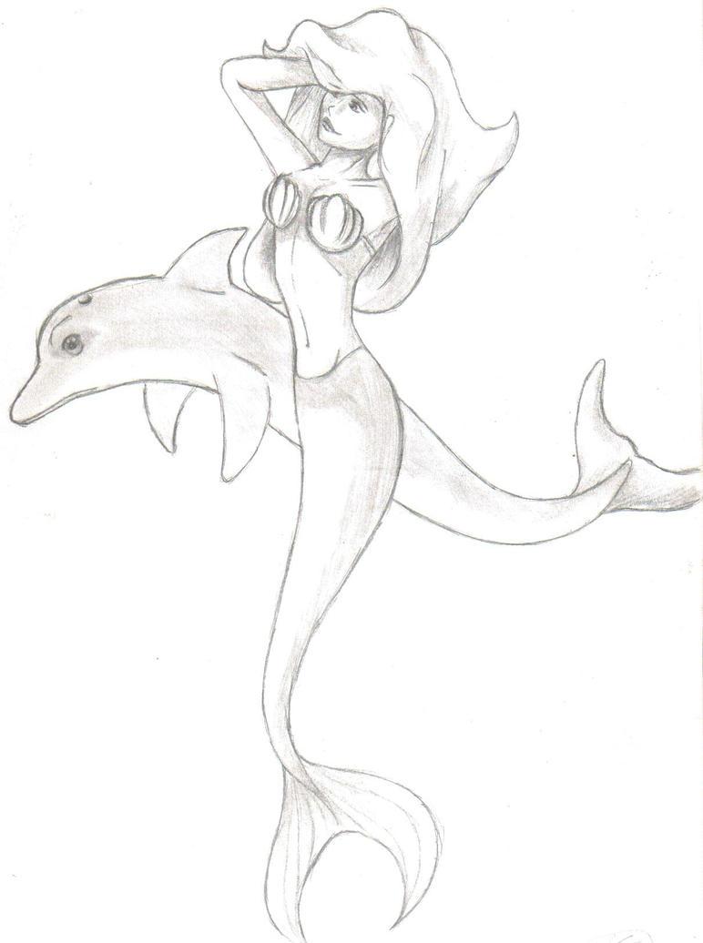 easy mermaids drawings - photo #8