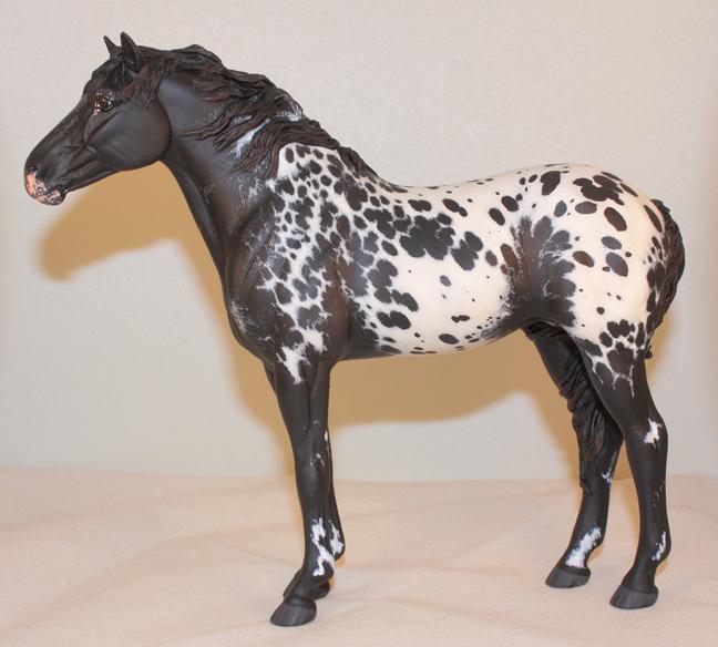 Sophie Feral Horse resin black appaloosa by arcadian7