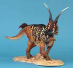 Diabloceratops head on