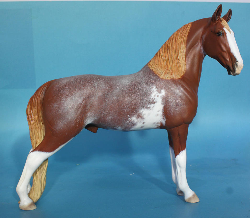 customized Breyer to TWH commission paint by arcadian7